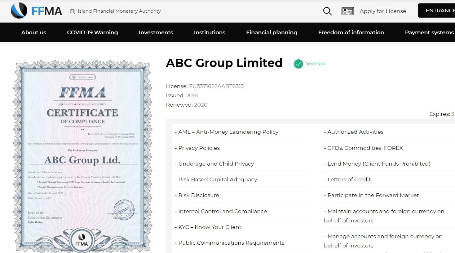 Брокер ABCFX: обзор и отзывы