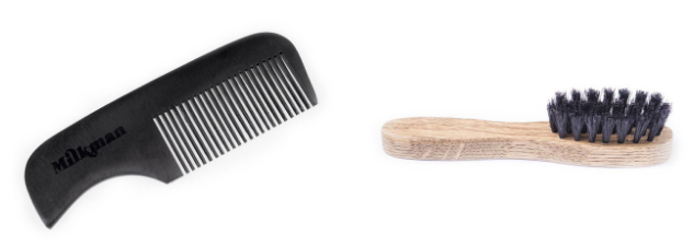 moustache brush and comb