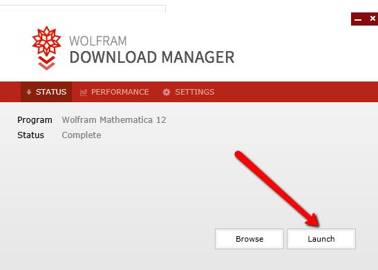 Launch Mathematica Installer