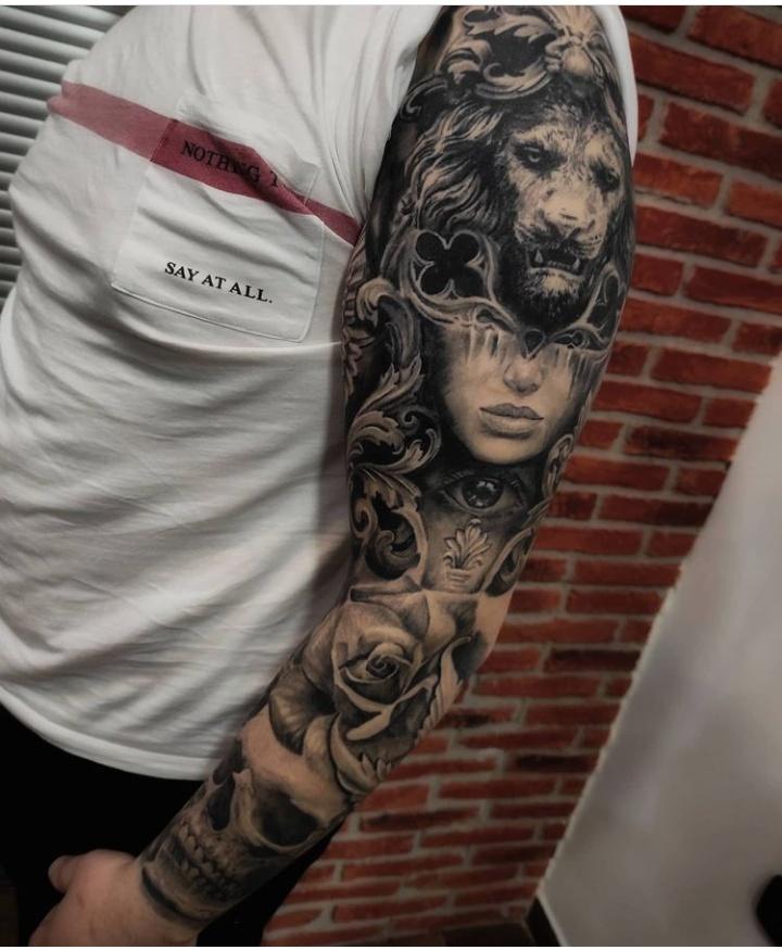 Arm & Sleeve Filigree Tattoos