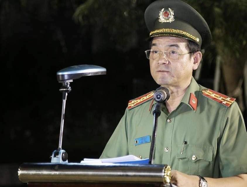 Đại tá Lê Hồng Nam - Giám đốc CATP phát biểu, chỉ đạo tại buổi lễ.