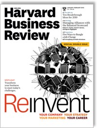 Cover of trade/professional journal example: Harvard Business Review