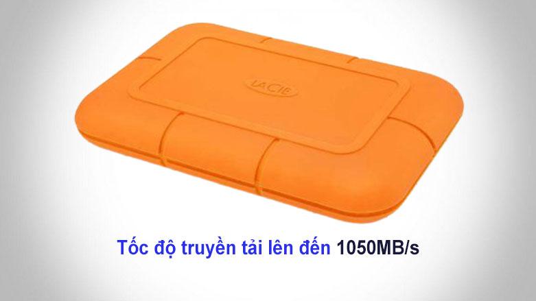 Ổ cứng gắn ngoài SSD LaCie Rugged Thunderbolt 3 1TB USB-C (STHR1000800) | Tốc độ truyền tải cao