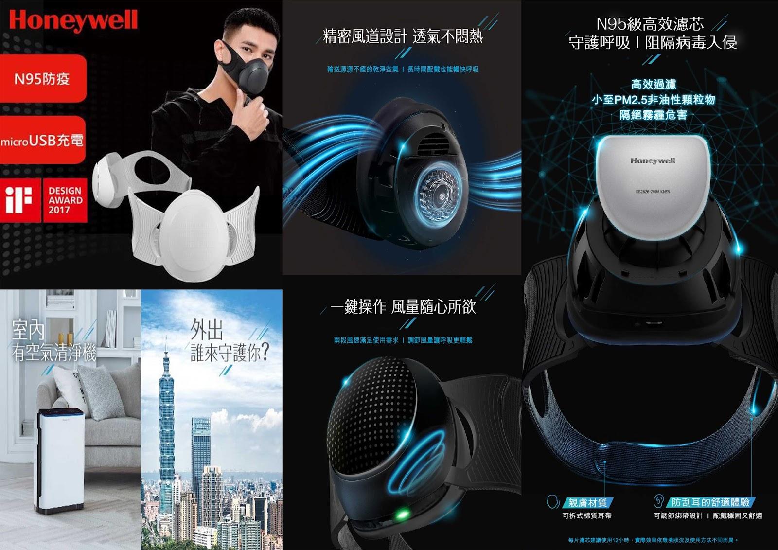 智慧行動口罩式空氣清淨機