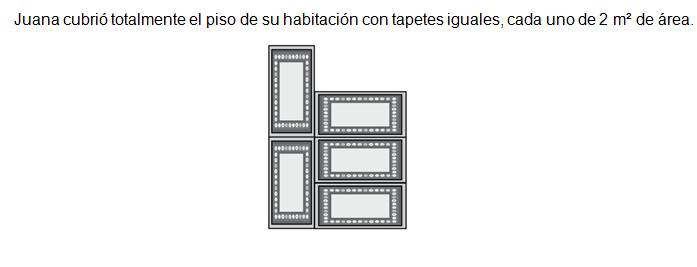 18. ¿Cuál es el área del piso de la habitación de Juana?