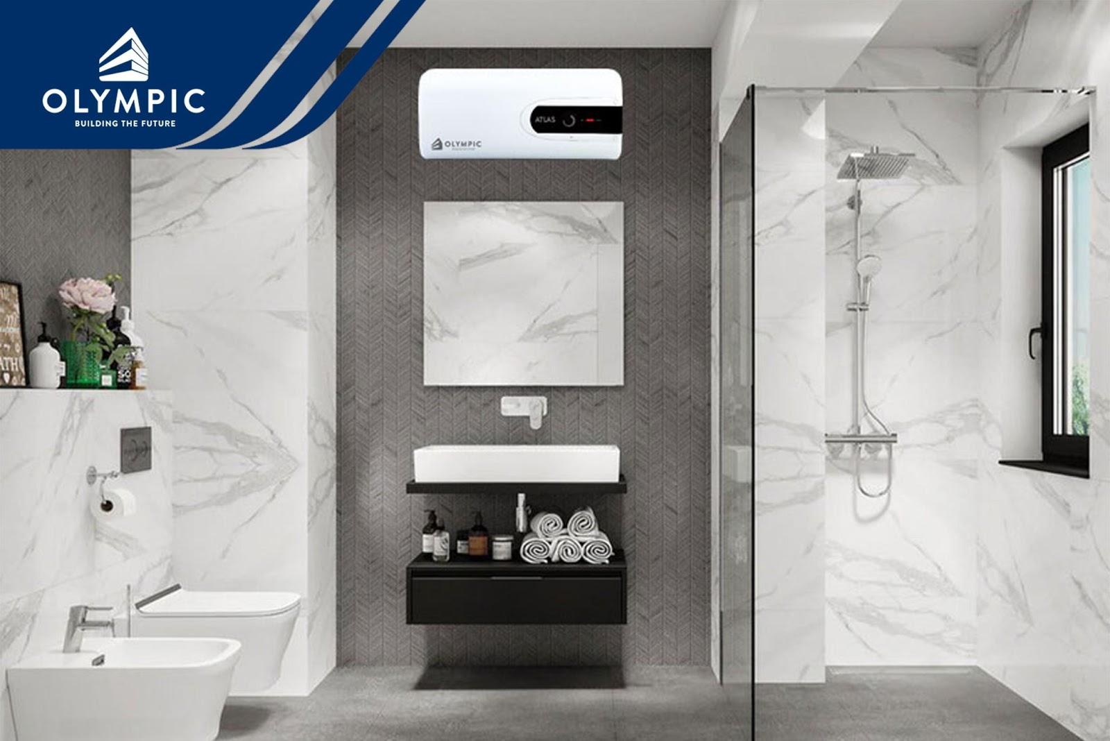 Gương và kính làm ăn gian diện tích phòng tắm