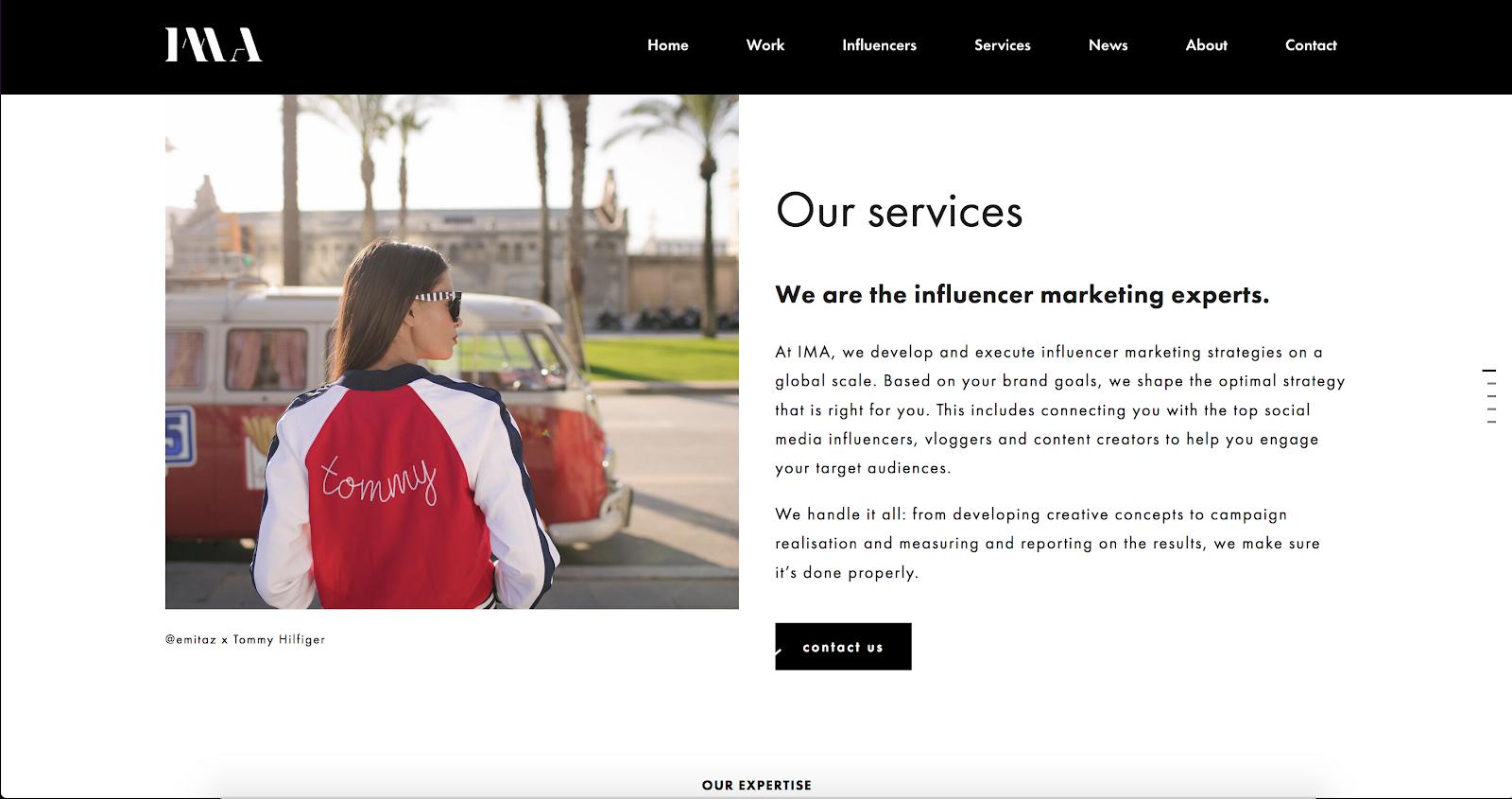IMA. Top Influencer Marketing Agency 2021