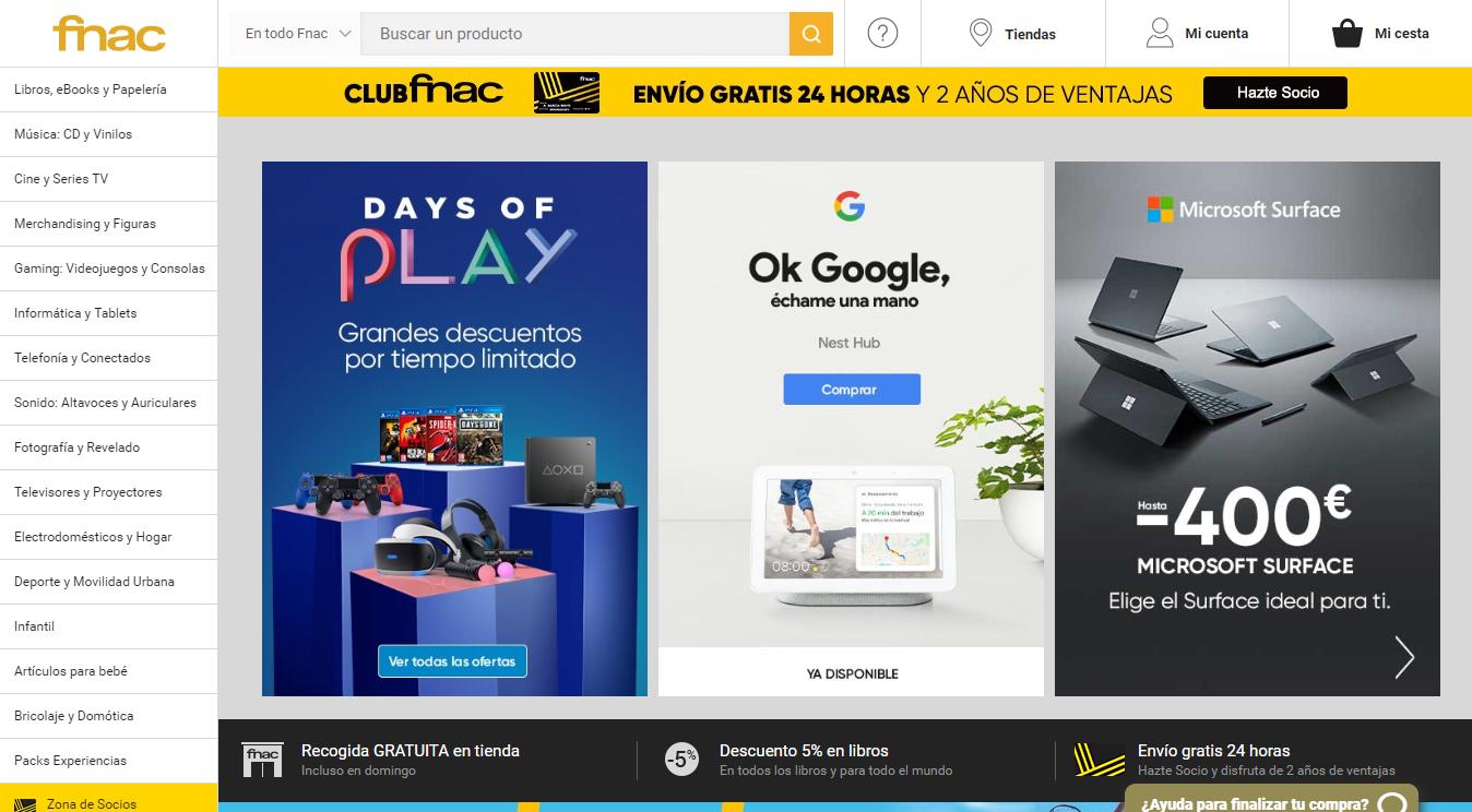 Homepage FNAC