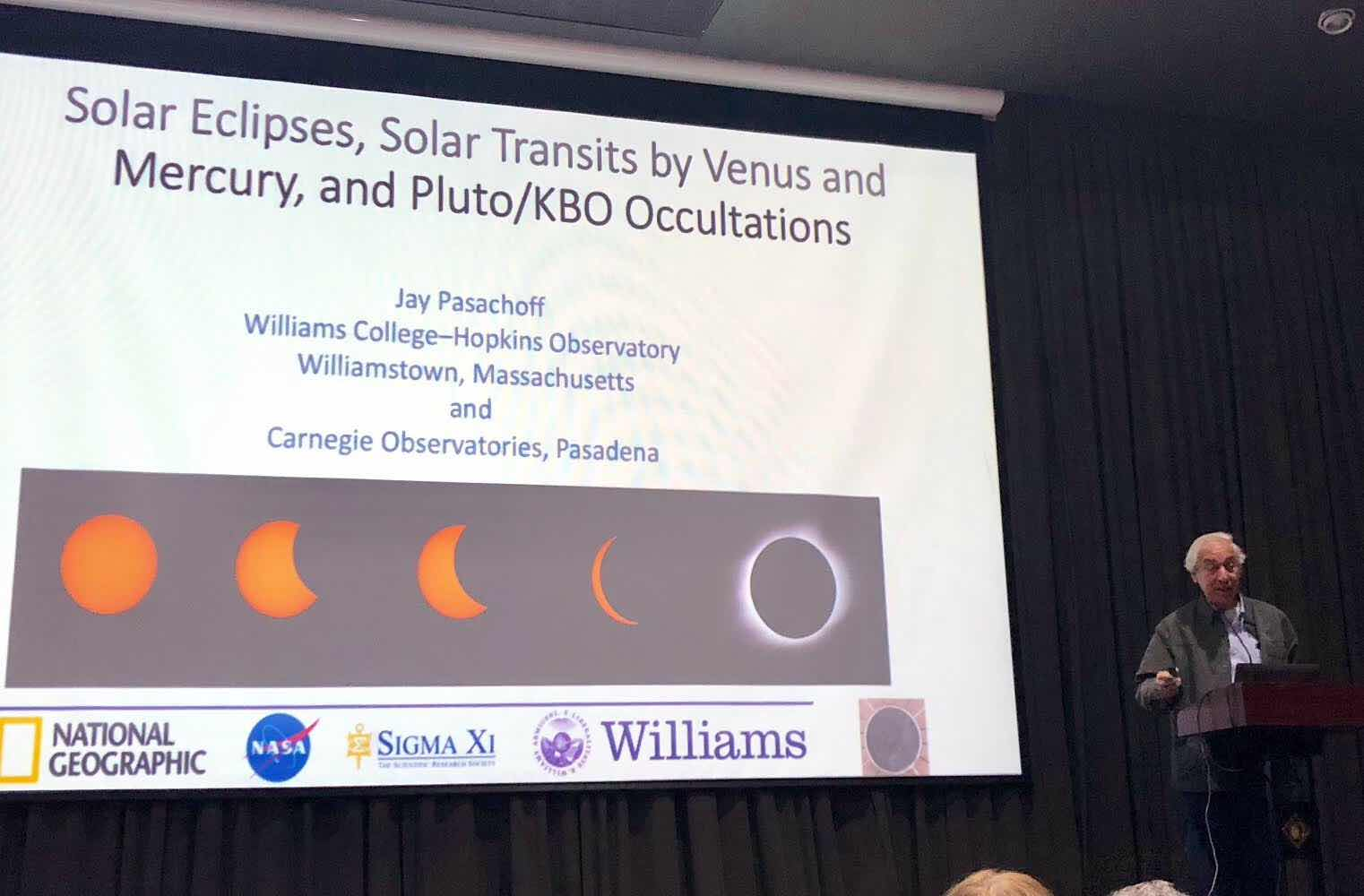 Professor Jay Pasachoff is our Chilean 2019 eclipse expert (Source: Palmia Observatory)