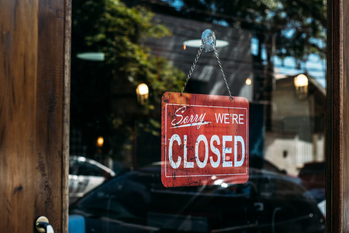 closed store because of COVID-19