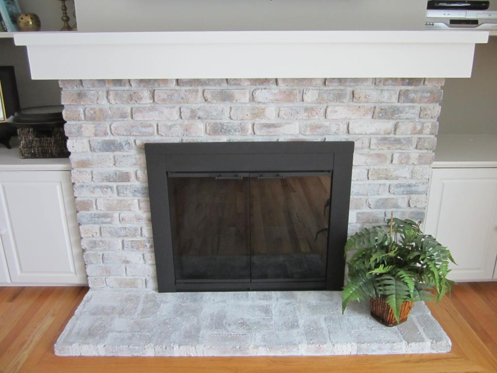 The Differences Between Whitewash And Limewash Paint Fireplace