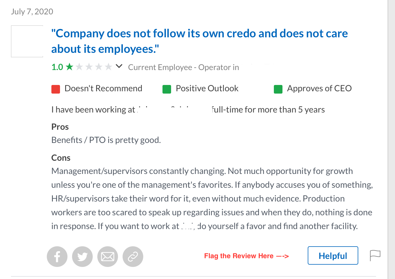 Glassdoor Employee Reviews