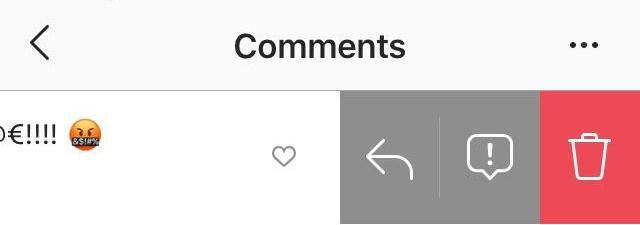 delete comment on Instagram