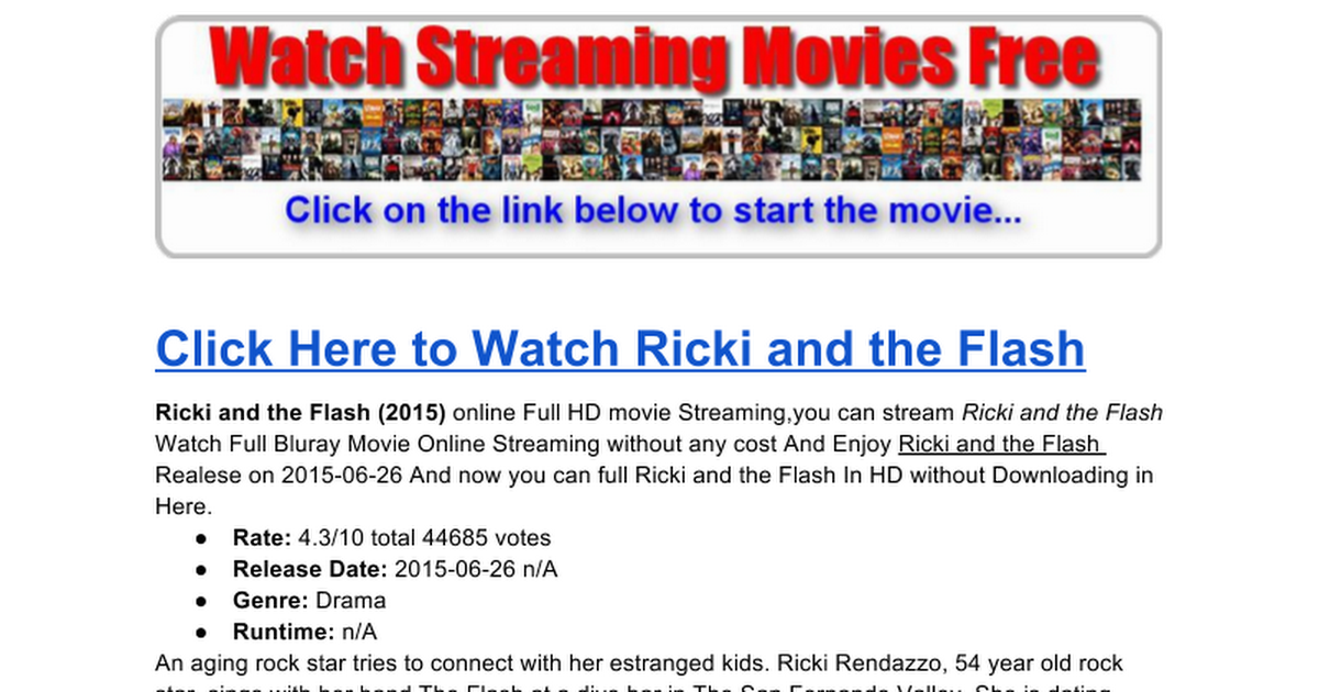 ricki and the flash stream