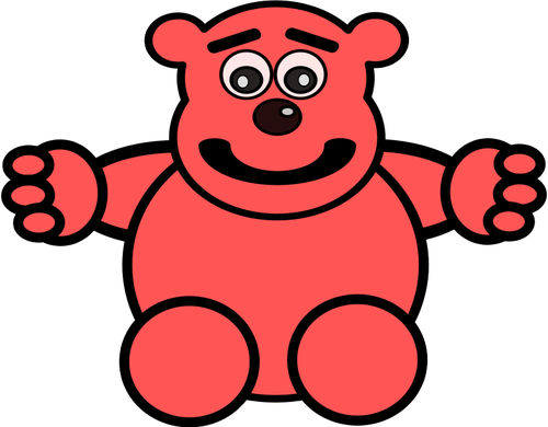 Bear toy vector clip art