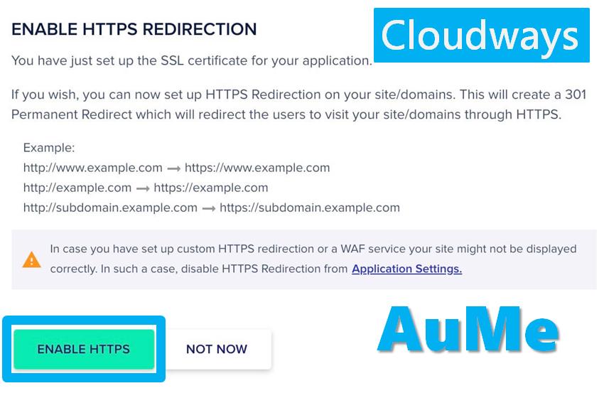 Cloudways教學 - SSL憑證設定