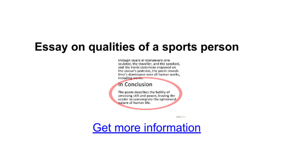 sportsmanship definition sportsmanship essay on qualities of a sports person google docs
