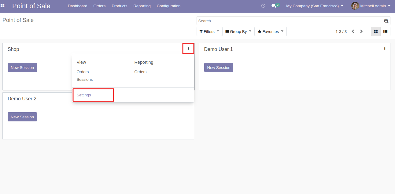 Navigate in any POS session your want to use Odoo POS Gen X theme.