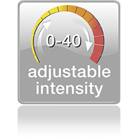 Adjustable intensity 0-40