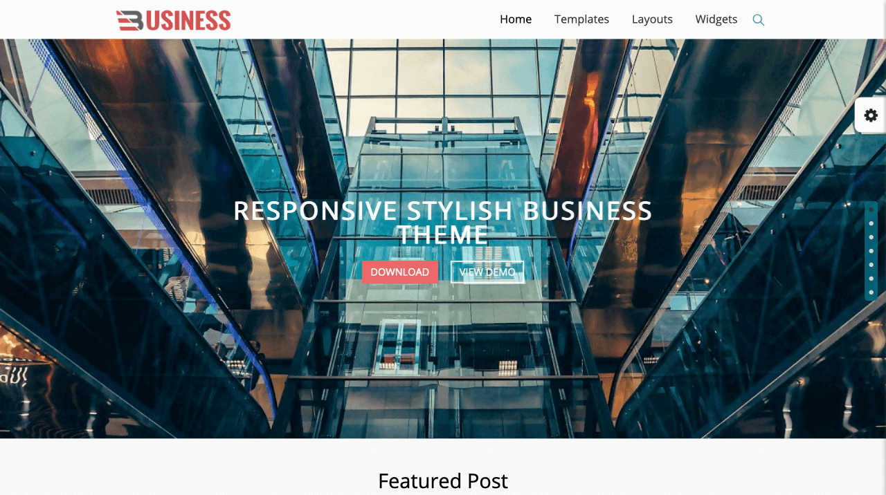 Business World Landing Page Template