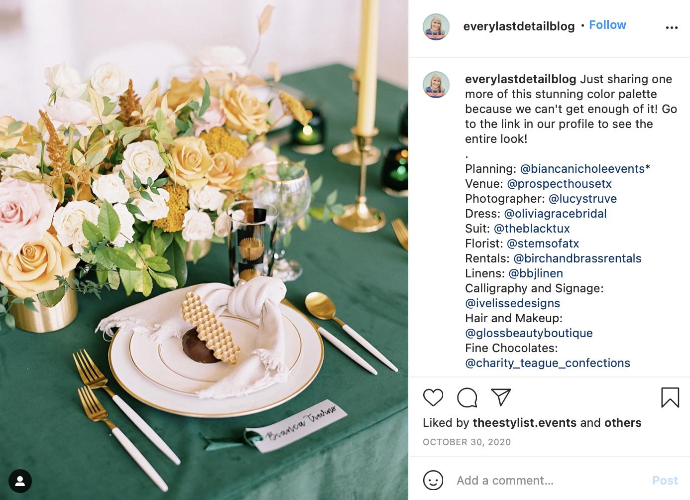 yellow, green, and brown wedding table setting