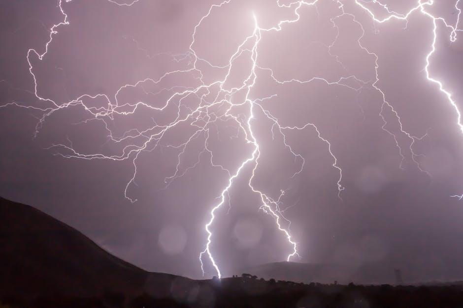 Lightning bolts.