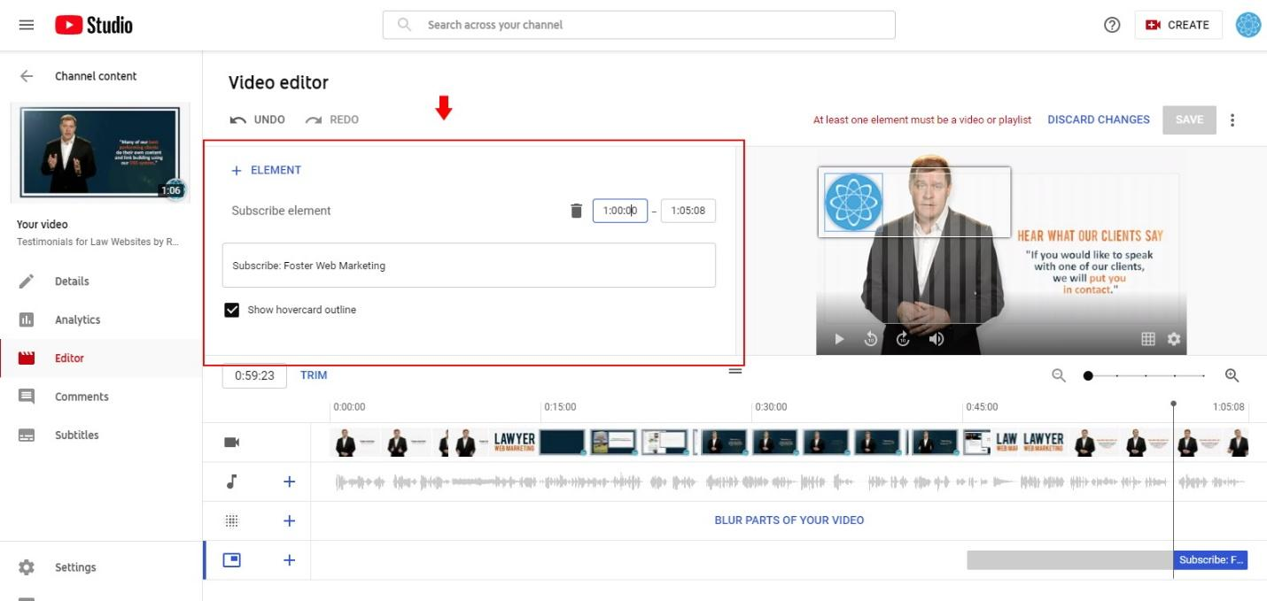 Add a subscribe annotation to end of video