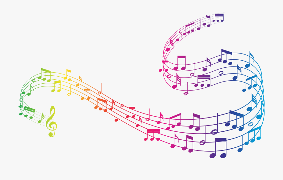 Colorful Music Clipart - Transparent Background Music Notes Png , Transparent Cartoon