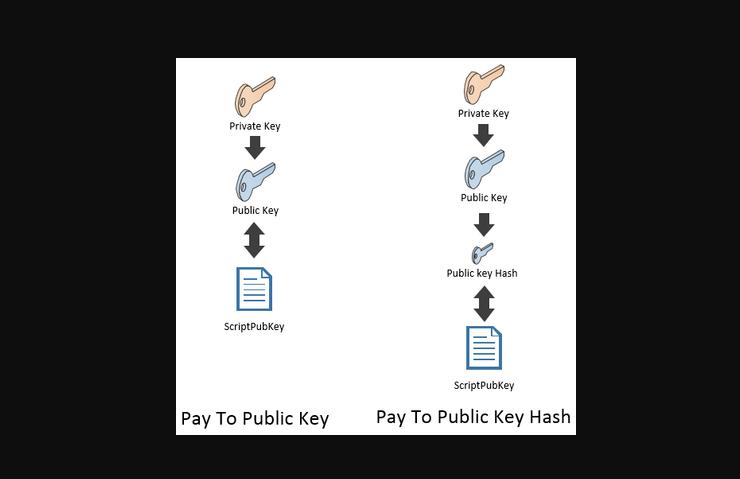 P2PK addresses vs P2PKH addresses