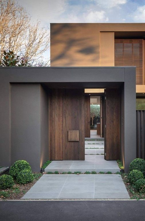 5 Rules to Choosing an Exterior Colour Scheme - grey and earthy colours