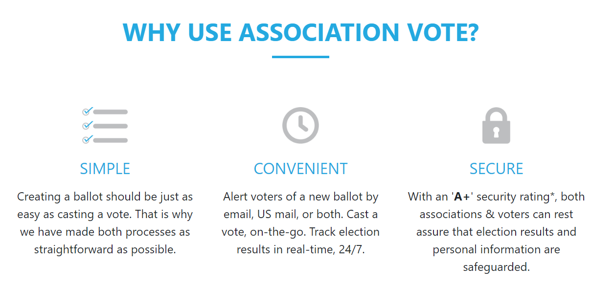 Why use Association Vote for online voting solutions