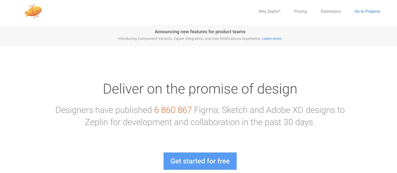 Zeplin: best tool for collaboration between team members