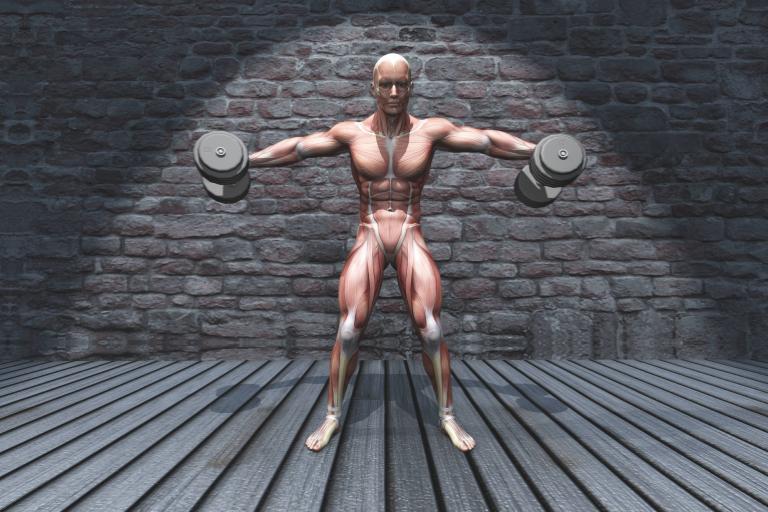 figura humana elevando los brazos