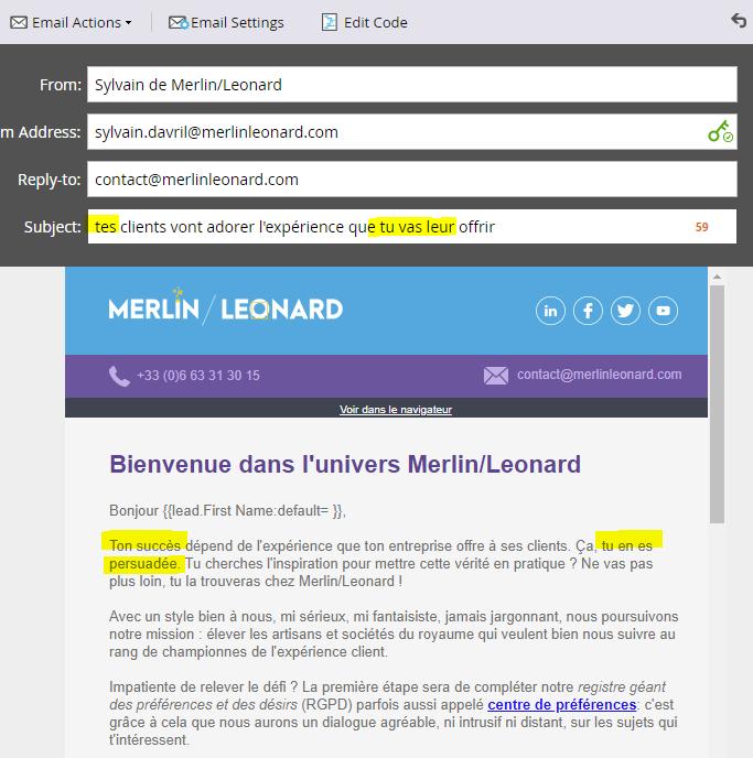 email personnalisé marketo dans le match marketo vs hubspot