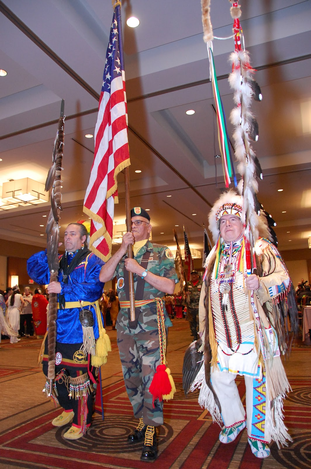The Honor Guard is the leading element of any pow wow - Photo: Vincent Schilling
