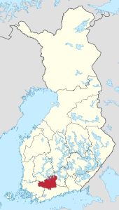 Kanta-Häme – Localizzazione