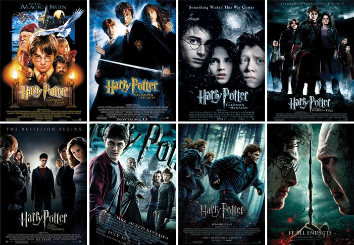 Image result for harry potter movies
