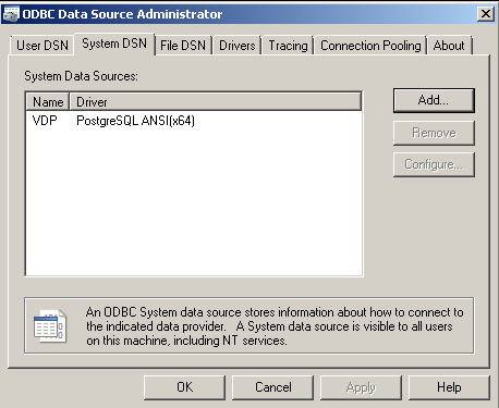 How To Access to VDP from Informatica PowerCenter through ODBC