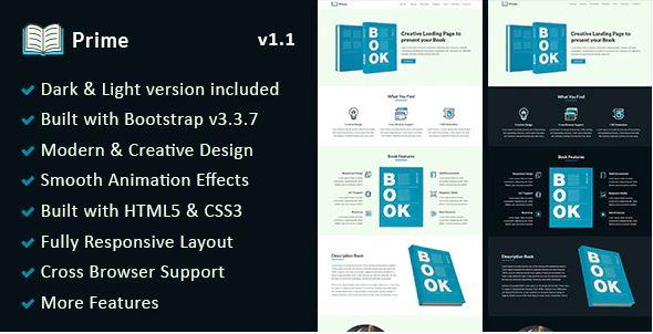 prime WordPress Book Landing Page theme