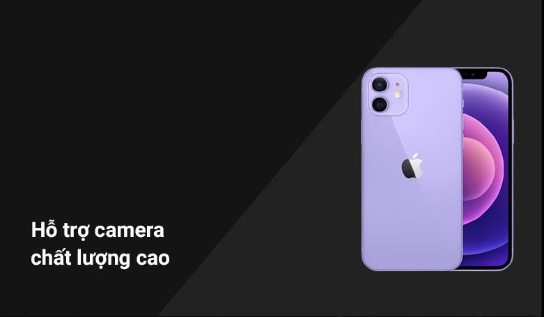 Điện thoại di động iPhone 12 128GB Purple MJNP3VN/A | Hỗ trợ camera chất lượng cao