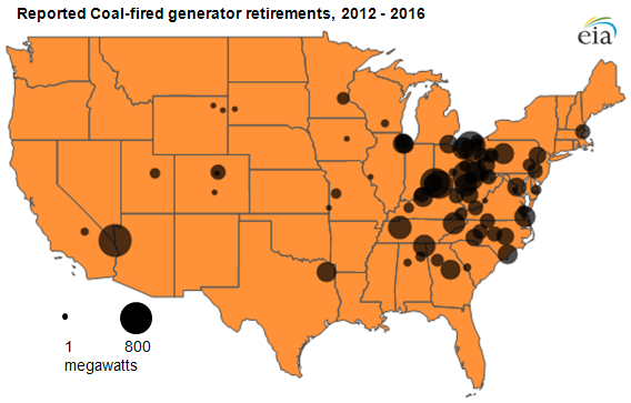 Whats Driving The Decline Of Coal In The United States Climate - Map of coal mines in the us