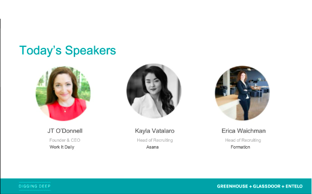 Three women speakers from the Recruiting Technology Must haves in 2019 webinar