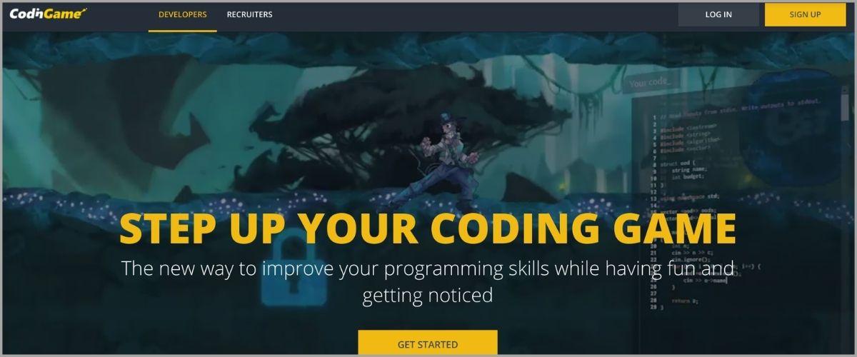 codingame homepage