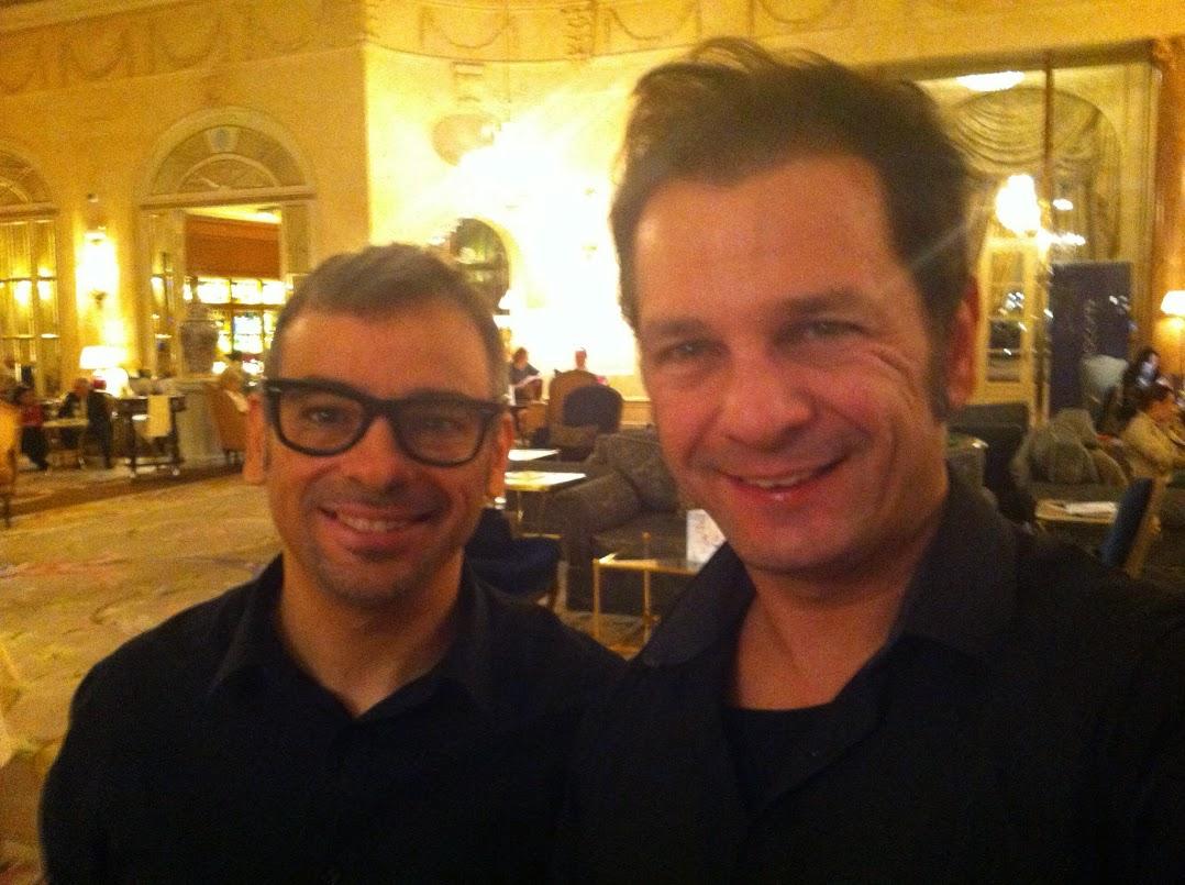 Robin Ventura y Alfonso V en Hotel Ritz