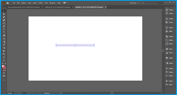 Illustrator draw a straight line