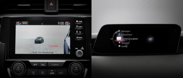 เปรียบเทียบหน้าจอ Civic Hatchback vs Mazda 3
