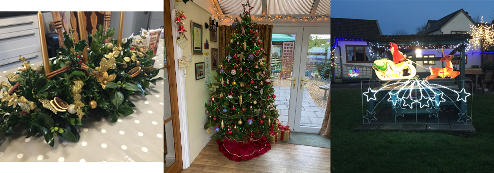West Down Guest House enjoy decorating their home for Christmas.