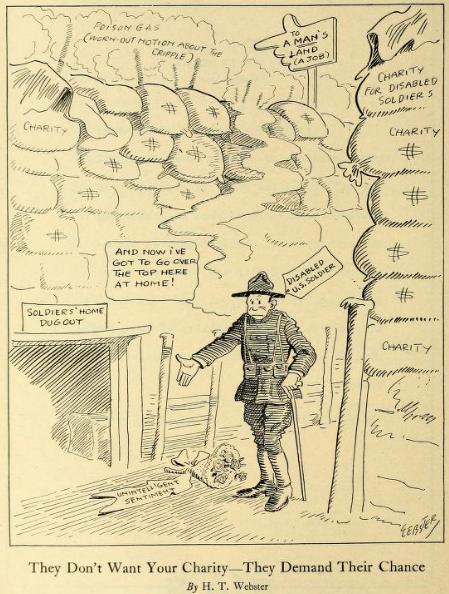 (图像从进行:A杂志上致残的士兵和水手的重构(1918  -  1919年),第1期,第19)