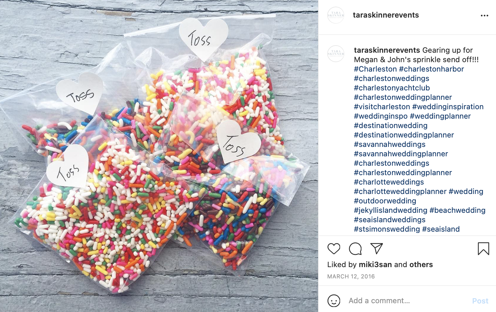 candy sprinkles in small plastics bags