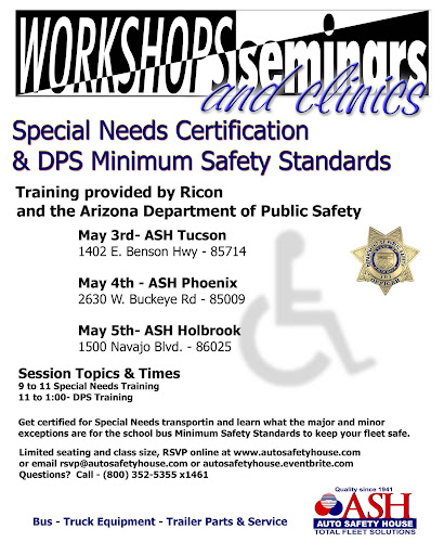 Special Needs Certification and DPS Safety Standards Workshop